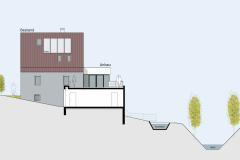 Ansicht-Sued-Schnitt-Garage