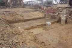 Baugrube, Bohrpfahlgründung